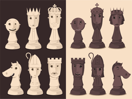 chess board: Chess Board Game Strategy, vector illustration cartoon.