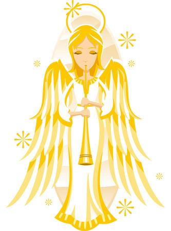 christmas house: Christmas angel illustration