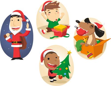 Christmas scenes Vector
