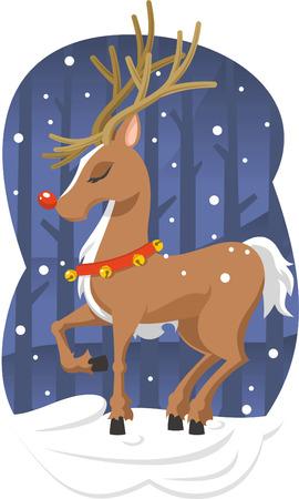 Christmas reindeer illustration Vector