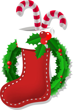 christmas sock: Christmas sock illustration