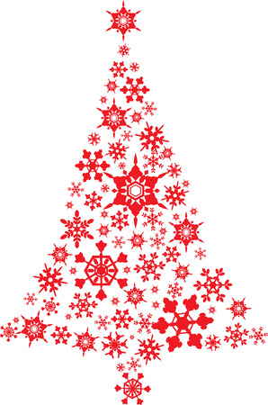 Christmas tree design with icon Vector