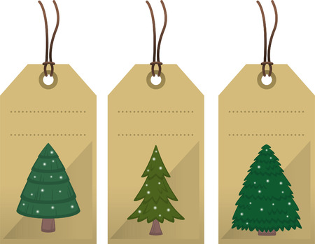 christmas motive: Christmas tree tags