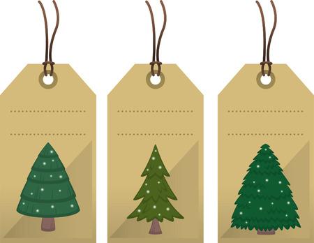 Kerstboom-tags