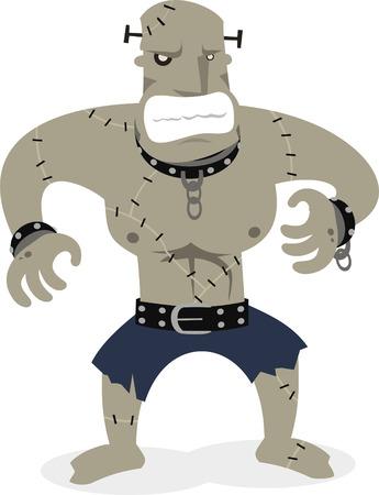Frankenstein creature cartoon illustration