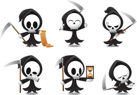angry angel: Grim Reaper icons Halloween