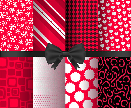illustration collection: Gift wrapping paper vector illustration collection