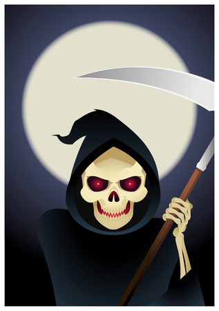 speculative: Grim reaper, the angel of abyss and death illustration