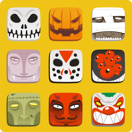 vlad: halloween monster cartoon icon illustrations