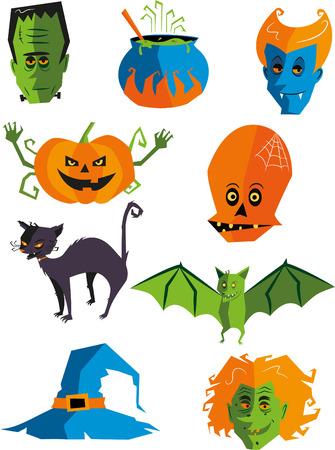 toxic substance: halloween monster cartoon icon illustrations