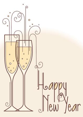 Happy new year illustration sign
