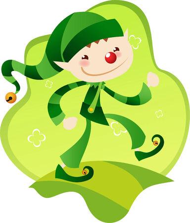 pointy ears: little elf Illustration