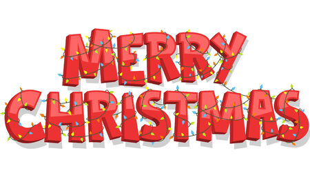 merry christmas banner sign vector illustration cartoon stock vector 33788779 - Merry Christmas Banner