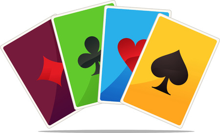 conquering adversity: Jack, queen, king and ace poker suits vector illustration.