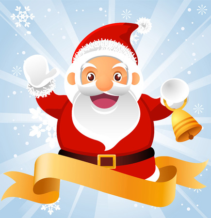 Santa claus banner Vector