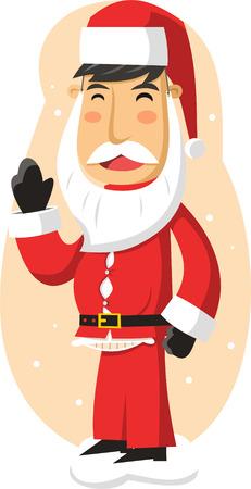 santa claus greeting: Man wearing a santa claus costume Illustration