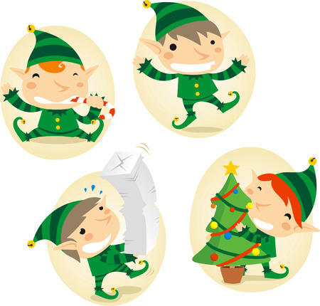 christmas costume: Santa´s Elves action scenes
