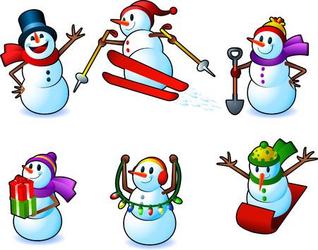 Snowman action set