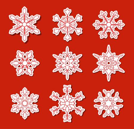 Snowflake decoration icons Illustration