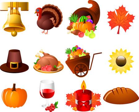 Thanksgiving Bell Corn Leaf hat turkey Sunflower pumpkin candle bread