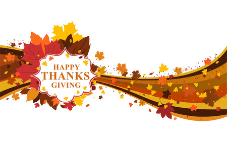 Thanksgiving day fall leaves and colors design