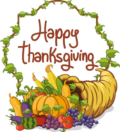 abundance: Thanksgiving day happy abundance horn