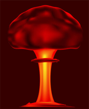 bombing: Atoombom explotion vector illustratie