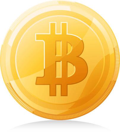 capitalismo: símbolo vector bitcoin