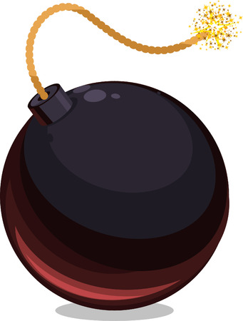 ticking: Bomb Explosive Weapon vector cartoon illustration Illustration