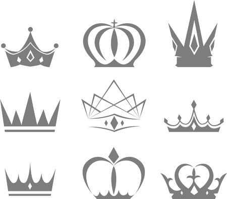 Et de différents styles de dessins vectoriels couronnes Banque d'images - 33827598