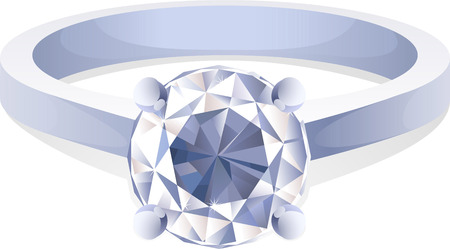 unbreakable: Sparkling Diamond Ring Shaped Jewelry Shiny Crystal Precious Gem Jewel. Vector Illustration Cartoon.