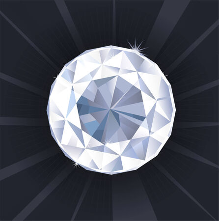 diamond shaped: Sparkling Diamond Shaped Jewelry Shiny Crystal Precious Gem Jewel vector illustration.