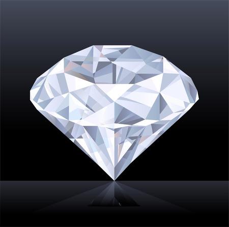 diamond shaped: Sparkling Diamond Shaped Jewelry Shiny Crystal Precious Gem Jewel Treasure Illustration