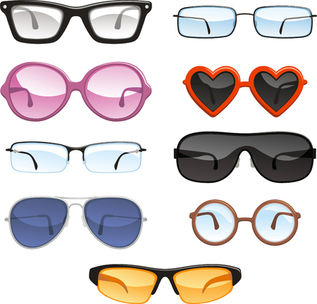 reading glasses: Glasses eyewear eyeglasses, vector illustration. Illustration