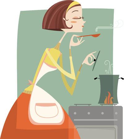 Eine junge Frau das Kochen. Standard-Bild - 33827540