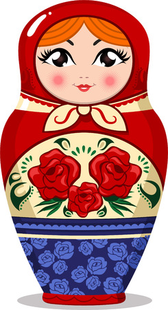 matron: Matryoshka Russian doll nesting  vector illustration.
