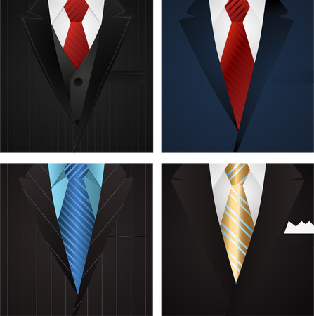 tailor shop: Business Elegance Formal Suit with tie vector illustration.