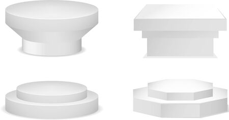 stanchion: Pedestal set vector collection. Illustration