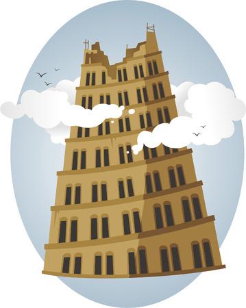 genesis: Babel tower bibbe story illustration
