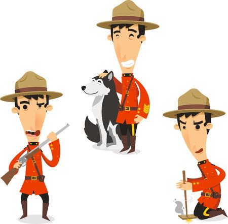 esploratori: Canadese Ranger illustrazioni cartoni animati