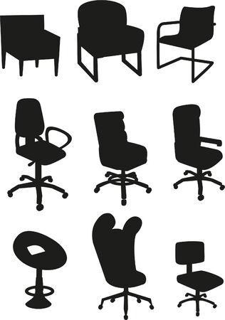Office chair set Illustration