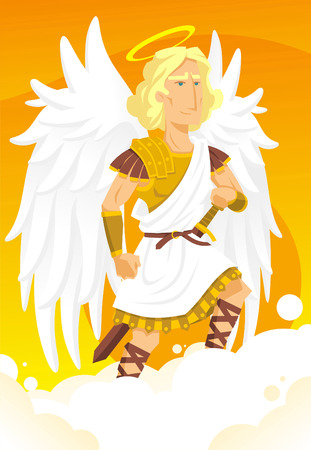 angel gabriel: Arch angel gabriel cartoon illustration