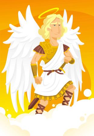 Arch angel gabriel cartoon illustration