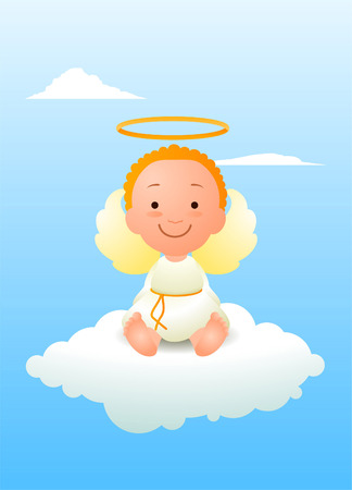 angeles bebe: Ángel del bebé de dibujos animados Vectores