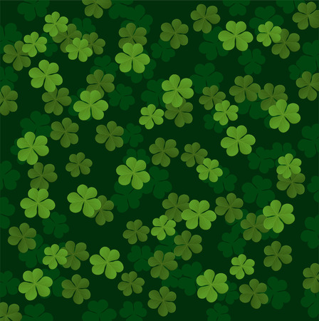 leaved: Three leafs clover Pattern vector illustration.