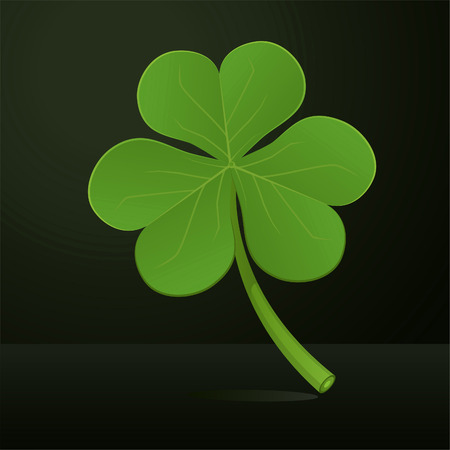 Three leafs green clover vector illustration. Vector