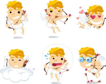 cupid: cartoon Little cupid illustrations Illustration