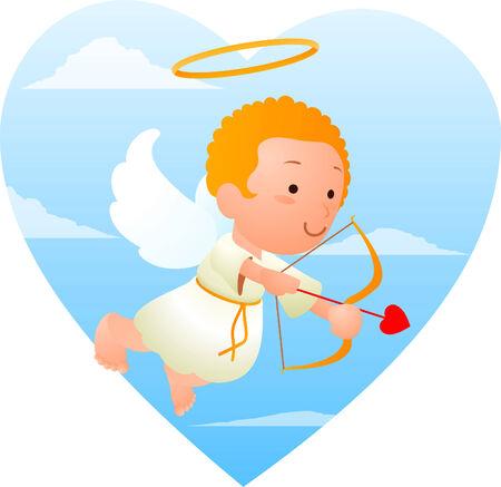 cherub: little cupid with bow and arrow