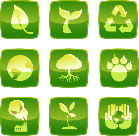 sustainability environmental icons in vector format.
