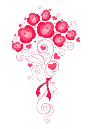 flowerbed: Flower bouquet illustration